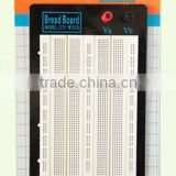 2014 hot sell white ABS metal reed 1580 tie-point testing breadboard universal printing circuit board