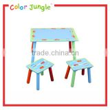 Hot sale wooden study table with chair for children, high quality kids study table and chair