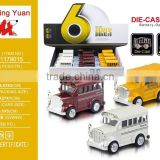 New and Hot Alloy Die-cast pull back School Bus with light Kids Toy Vehicle
