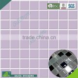 BSCI factory audit customized pvc free removable room decor 3d wall mosaic tile sticker