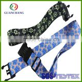 Customized newly design hot selling elastic cross travel luggage strap scale belt with buckle and tsa lock