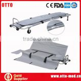 Aluminum ambulance used folding stretcher