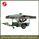 Military fast food mobile kitchen trailer for sale, towable food trailer, camping mobile kitchen trailer during disasters