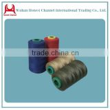 ring spun polyester sewing thread 100 polyester spun yarn from China Hanchuan factory thread and yarn in China