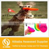 Ultra Soft Pet Dog Natural Silicone Rubber Flying Flyer Toys Flexible Disc Frisbee
