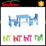 K-Mart KD Plastic new design children kids table and chair set furniture