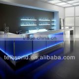 Wine bar counter for sale/LED bar counter/durable counter top