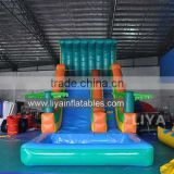 2015 crazy and popular custom giant inflatable water slide,inflatable slip n slide for adult