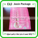 High quality baby wet wipe bags with opp sticker                                                                         Quality Choice