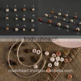 Set of ceramic beads