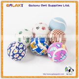T100 Wholesale Mixed Colors Pet Ball Dog Products Cat Toy Pet Tennis Balls Fetch Throw Chew Dog Balls Toys