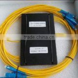 1*4 PLC Fiber Optic Splitter, ABS package, 3.0mm 1.5m Cable, SC/PC Connector for FTTX Networks