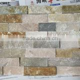 CS017 Natural interior Slate cultured stone kitchen wall tile mixed color stacked stone venner