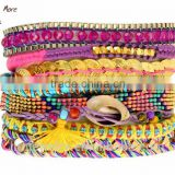 Gold french multilayer coin jewelry magnetic bracelet rope bracelet                                                                         Quality Choice