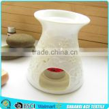 Super fashion Customized Christmas white ceramic oil burner of flower vase shape