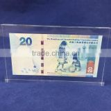 clear acrylic brand block with banknote wholesale