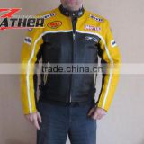 mens fashion biker leather jacket motorcycle leather jacket for men leather kart racing jac
