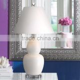 11.1-4 A clean and contemporary White Double Gourd Ceramic Table Lamp in ceramic construction