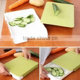 Cutting Board, Kitchen Double Layer Chopping Block Drawer Cutting Board Antibacterial Plastic Cutting Boards