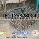 Folding storage container cage-heavy duty