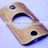 industrial winch cast iron mounting plate,three holes of rectangle Custom bracket for flash mounting plates