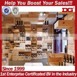 Supermarket Wooden Rack Display Stand Decoration for Wine Shop