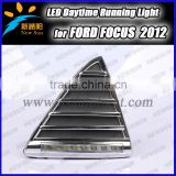 Car LED DRL for Ford Front Triangular Grille LED daytime running light,6000k 12v 1w*8 high power ford drl led light for Focus