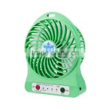 2016 summer cooler fan for computer wholesale USB mini desk chargeable Fan