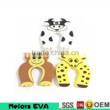Melors non toxic funny multi-color die cut fashion Cheap and cute baby safe EVA foam animal decorative door stopper