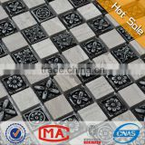 hot sale decorative resin mosaic manufacturer flower carving pattern stone mosaic table patterns wall mosaic tiles stickers