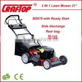 "Top sale garden tool gasoline 21"" Lawn Mower 3 IN one NTLM21BS675-4"