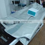 Three zone far infrared heated blanket for body shaping