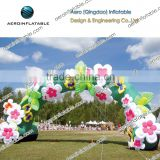 Decorative inflatable arch (with flowers and butterflies shape)/ Advertising inflatable arch/Inflatable Arch for Advertisement
