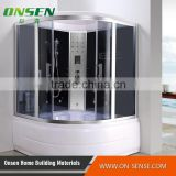 Steam shower enclosure and bathtub with massage