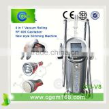 CG-V8 Low Price Vacuum Cavitation Roller Massager Butterfly Slimming Body Shaping Machine