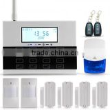 GSM SMS Home Burglar Security Alarm System LCD Display Auto Dial Touch Keypad