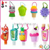 New product cute holder 29ml antibacterial alcohol gel hand sanitizer silicone case for BBW