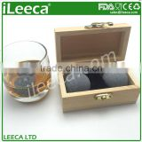 Customized shape whiskey rocks set with sphere chilling stones for christmas promotion gift sets
