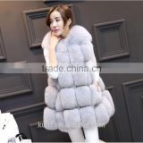 New Winter Genuine Fox Fur Vest Women's Full Pelt Gilet Warm Luxury Real Natural Fox Fur Waistcoat Pockets