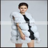 Real Fox Fur Vest Women 2016 New Fashion Genuine Fox Fur Coat Gilet Long Jacket Winter Russian Real Natural Fox Fur waistcoat