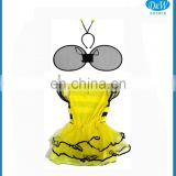 Fancy Child Fairy Bee Tutu Wing Headband Dress Costume Set for Party