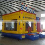birthday cake inflatable bouncer slide combo