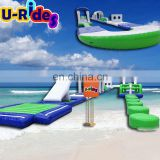 Commercial Outdoor Water Games 30 meters Giant Inflatable Floating Water Park Equipment Construction