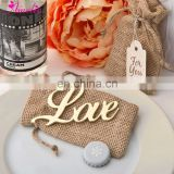 New Arrival Antique Gold Love Design Bottle Opener With Burlap Bag Wedding Shower Gift Favors Personalized Souvenirs
