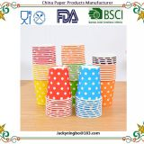 Multicolor Round Dots Paper Cup Disposable Tableware For Kids Birthday Party Wedding Food Grade Party Supplies
