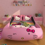 Hellokitty Race Car Bed Kid Car Bed for Girls