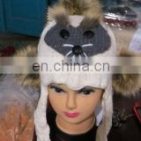 2013new fashion animal ladies hat for winter