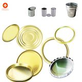 Tinplate Component for round metal cans, Lid + ring + bottom