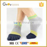 Men Casual Patchwork Cotton Blend Athletic Five Finger Toe Socks Boat Socks For Men Brand Men Clothing