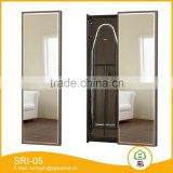 cheap whosale black glass mirror frameless full length mirror mounted on wall